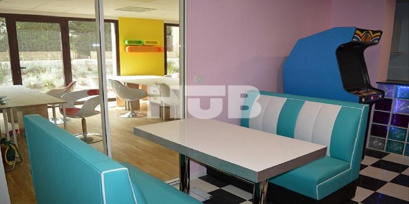 Bench et bureaux partagés materic agencement et mobilier
