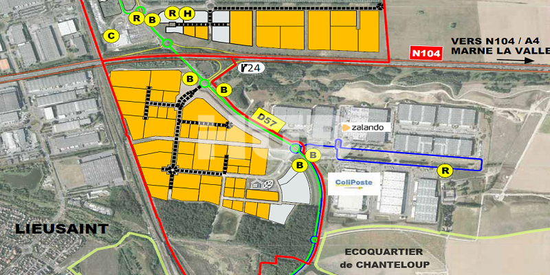 Terrains industriels constructibles et viabilisés vendre Seine-et-Marne 77 Île-de-France