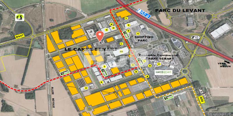 Terrains industriels à vendre Lieusaint Sénart Ile de France